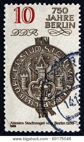 Postage Stamp Gdr 1986 City Seal, 1253, Berlin