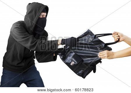 A Thief Stealing Handbag