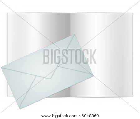 Blank Envelope Book Illustration