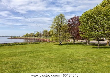 View of Charlottetown Harbor and Victoria Park from the lawn at Beaconsfield.
