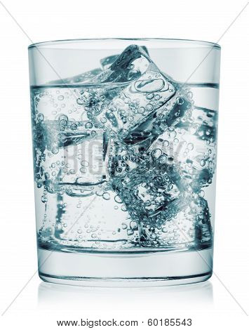 Glass Of Cold Water With Gas