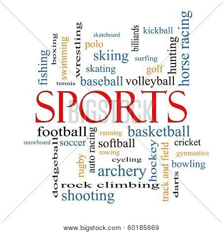 Sports Word Cloud Concept