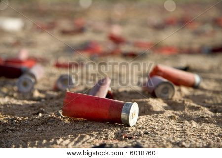 Wasted shot gun shell