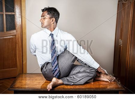 Indian Man Doing Yoga