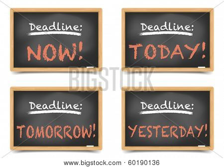 detailed illustration of blackboards with different writings on it, eps10 vector, gradient mesh included