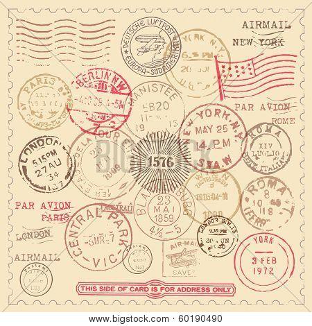 Vintage Stamps Set