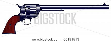 Long Barrel Six Gun