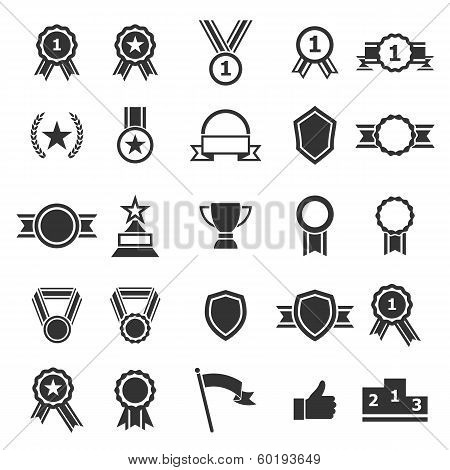 Award Icons On White Background