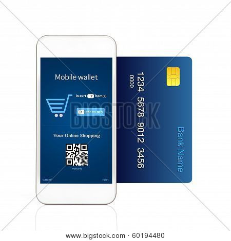 Isolated Phone Makes Online Purchase With Credit Card