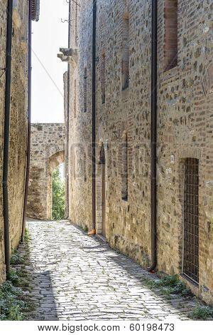 Narrow Street In San Quirico