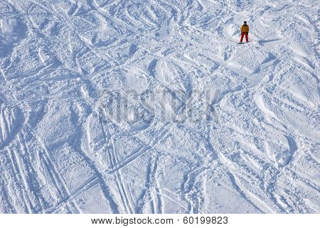 Snowboarder On The Slope Itself