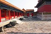 Courtyard Of A Pavilion In Forbidden City, Beijing, China
