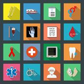 stock photo of mortuary  - Medicine flat icons set vector graphic illustration - JPG