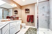 Bathroom With Decorative Antique Chest