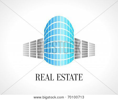 Real Estate Abstract Vector Design Template. Realty Icon.