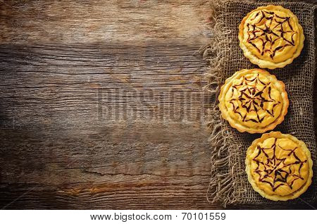 Tartlets With Pumpkin Cream For Halloween For Kids