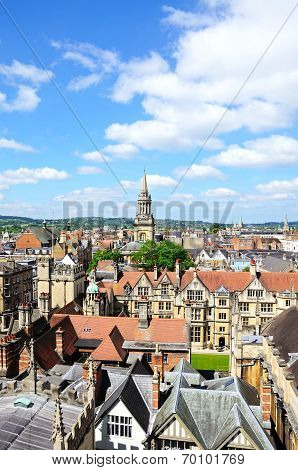 City rooftops, Oxford.