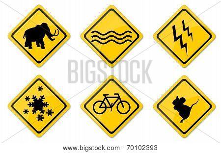 Warning Signs Set