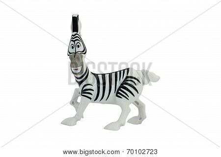 Marty zebra toy character from Madagascar animation