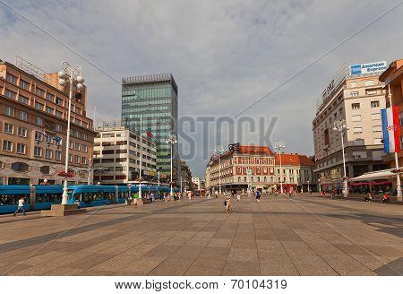 Ban Jelacic Square In Zagreb, Croatia