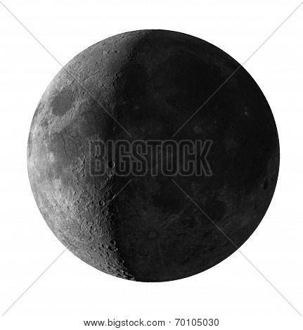 Crescent Moon Isolated With Clipping Path