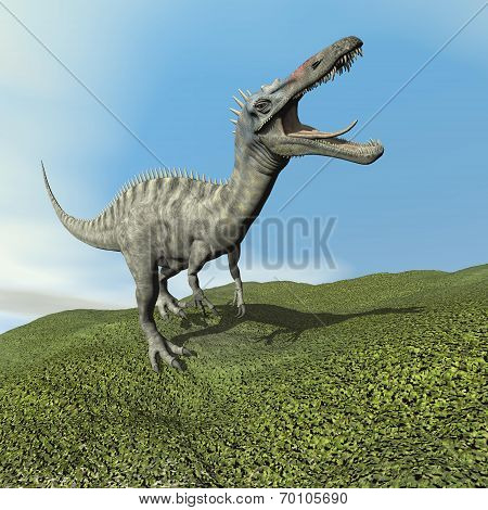 Suchomimus dinoasaur roaring - 3D render
