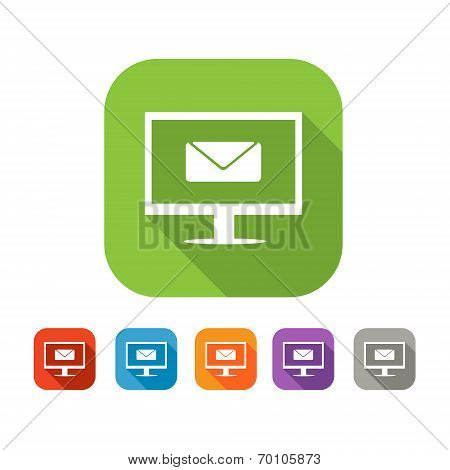 Color set of flat mail icon