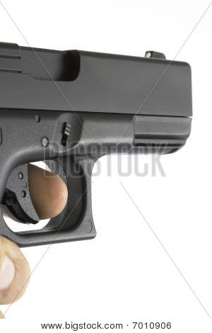 Handgun Being Aimed
