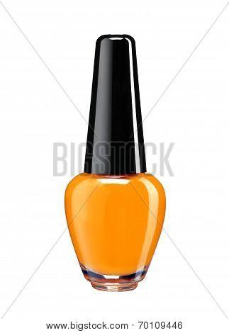 Vibrant colourful orange nail varnish