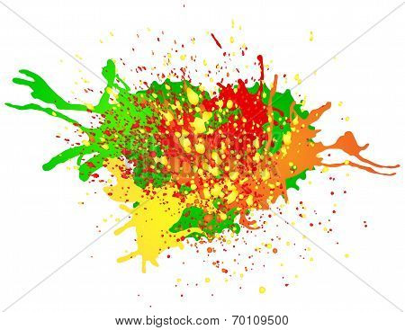 Colorful Splashes Of Paint