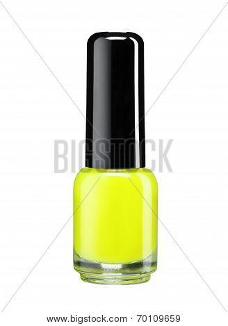 Yellow nail varnish