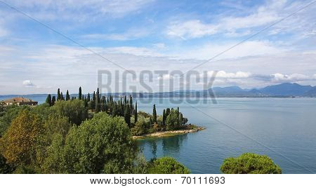 Picturesque Lakeside Of Garda Lake, Italy