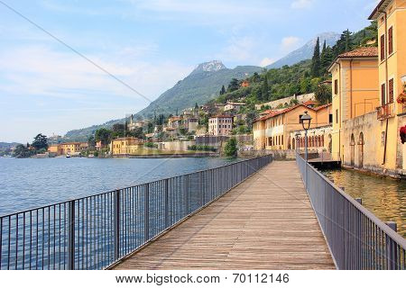 Lakeside Promenade Gargnano And Garda Lake