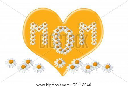 Love You Mom, Love Heart For Mothers Day