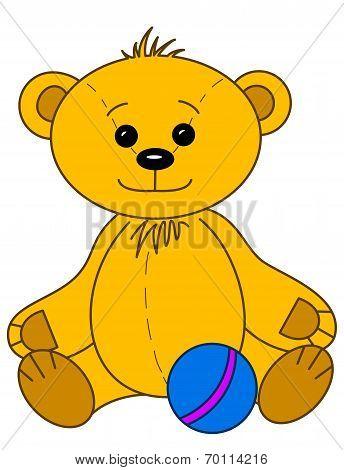 Teddy bear with ball