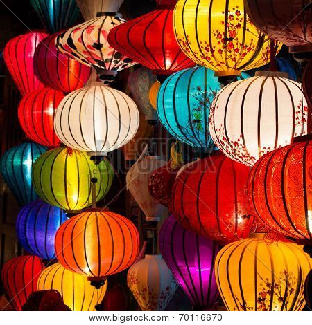 Traditional Lamps In Hoi An, Vietnam