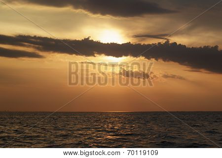 Beautiful Sunset In Summer Bay