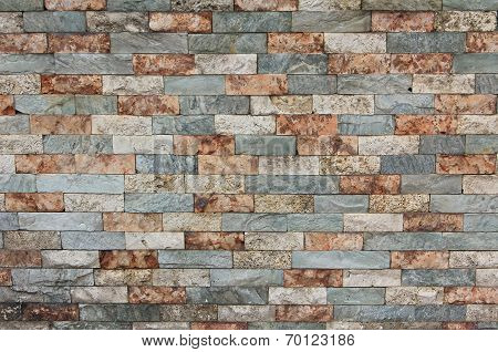Old Brick Wall Background, Tricolor
