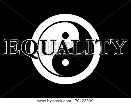 Yin Yang Illustration Series Equality