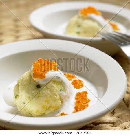 cold potato dumplings