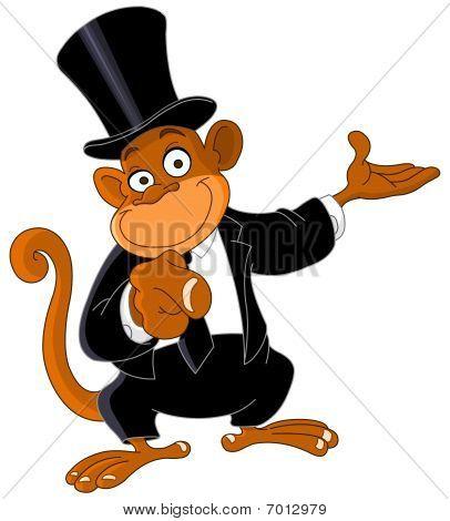 Apontando o macaco