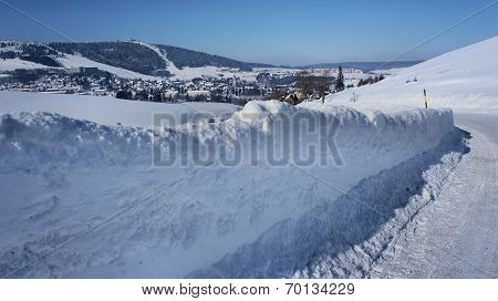 View from the Czech Republic to Saxonia, Germany