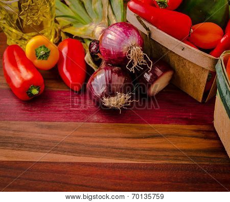 Sweet Peppers And Onions