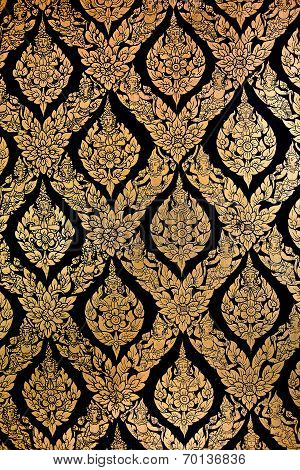 Wall Of Thai Style Pattern