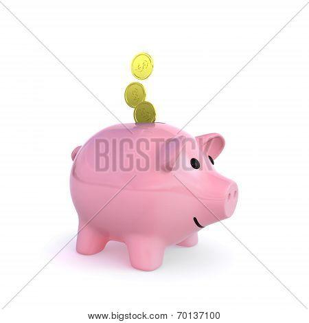 piggy bank 3d