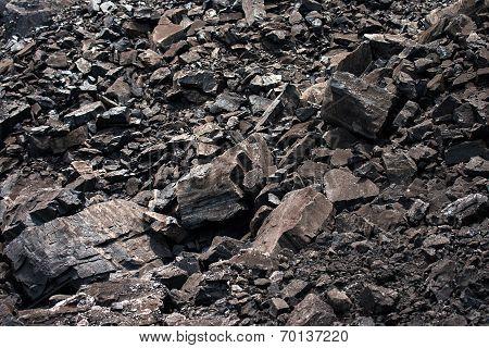 Coal in a coal mine