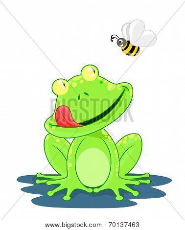Hungry Frog Cartoon