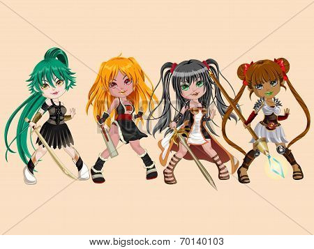Warrior Doll Girls