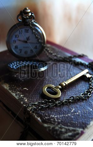 Key is in Timend Pocket Watch