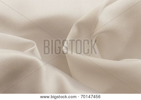 Folded fabrics with rich warm  colors
